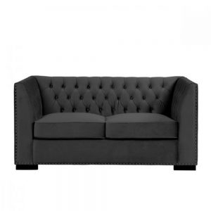 2 seater sofa black