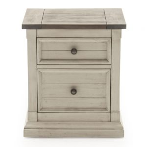 rustic bedside cabinet table wood