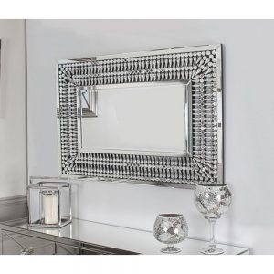 rectangle diamante diamond mirror crystal