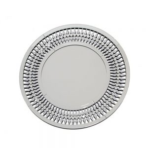 crystal diamond diamante round mirror
