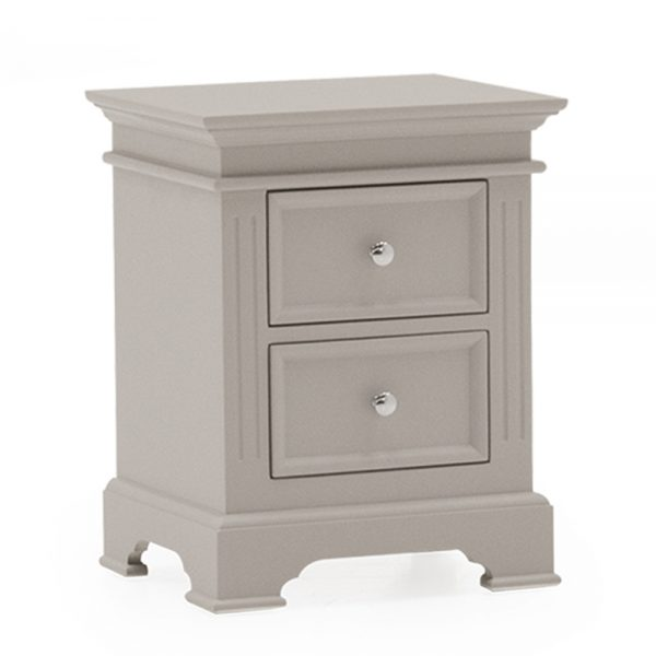 night table wood paint grey