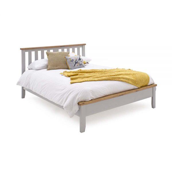 wooden grey oak pine painted bedstead bed