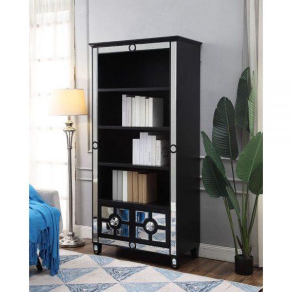 bookcase mirrored modern
