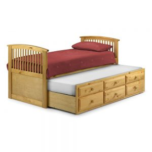wooden storage pull out bed
