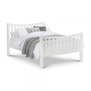 wooden bedstead white bed uk ireland
