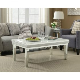 coffee table white gloss marble glass