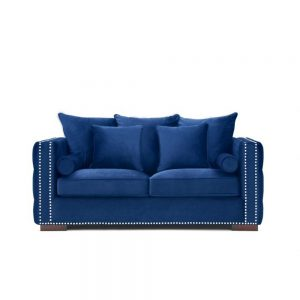 velvet sofa blue royal