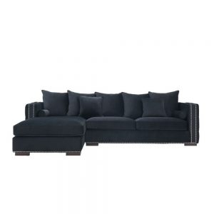 black sofa corner group velvet