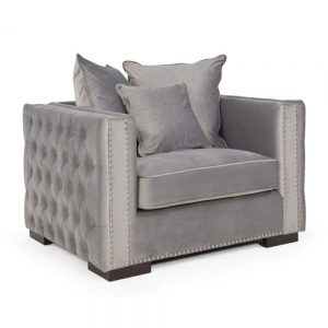 grey velvet fabric chair sofa