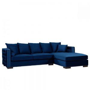 royal blue velvet corner group