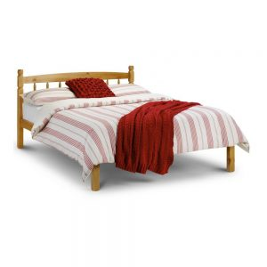 wooden bed bedstead