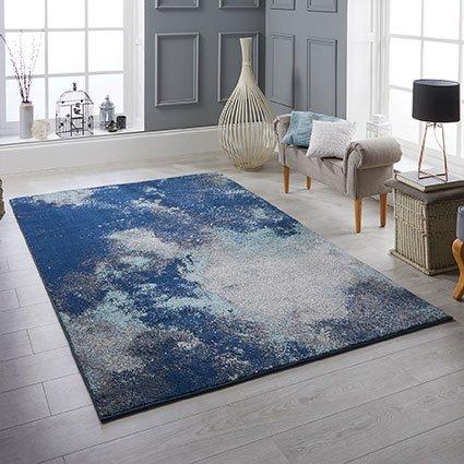rugs blue pattern