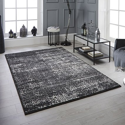 rug pattern navy black blue