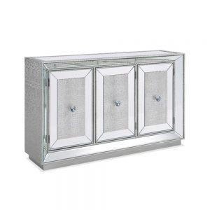 sideboard silver glitter