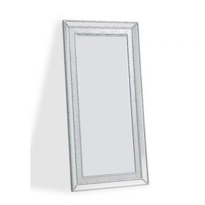 silver large glitter mirror