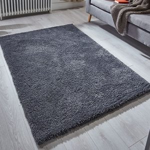charcoal rug soft fluff thick