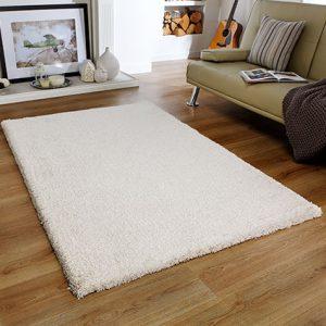 cream soft fluff thick rug