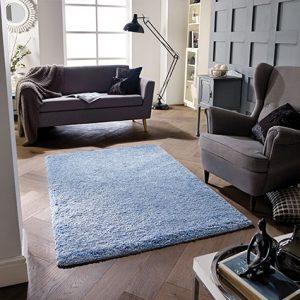 denim blue light rug thick fluff soft