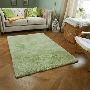 green fluffy soft rug uk ireland
