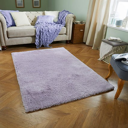 lilac soft fluffy thick rug uk ni ireland belfast