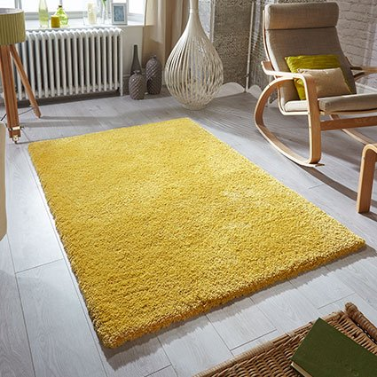mustard yellow rug soft fluff uk ireland