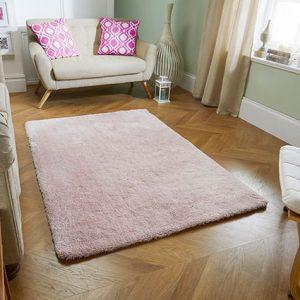 pale pink soft fluff rug
