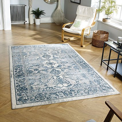 rugs blue pattern uk