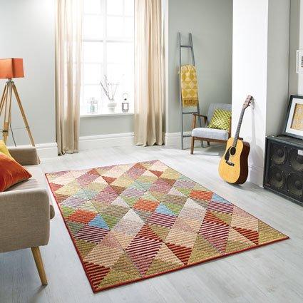 pattern multi colour rugs
