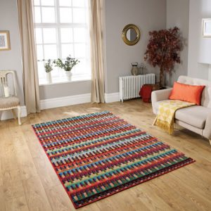 multi colour pattern rug
