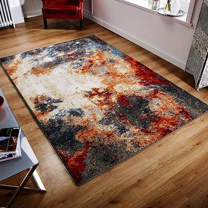 multi colour pattern design rug