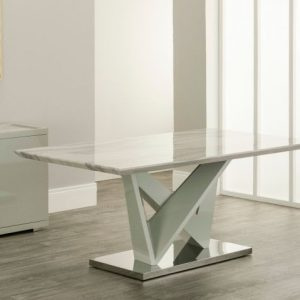 dining table marble white cream grey