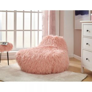 pink bean bag sheepskin faux