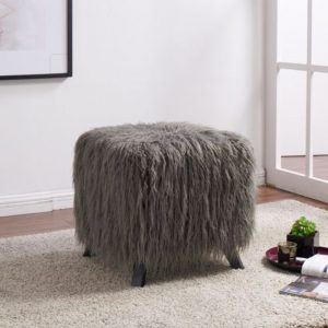 dressing stool faux sheepskin