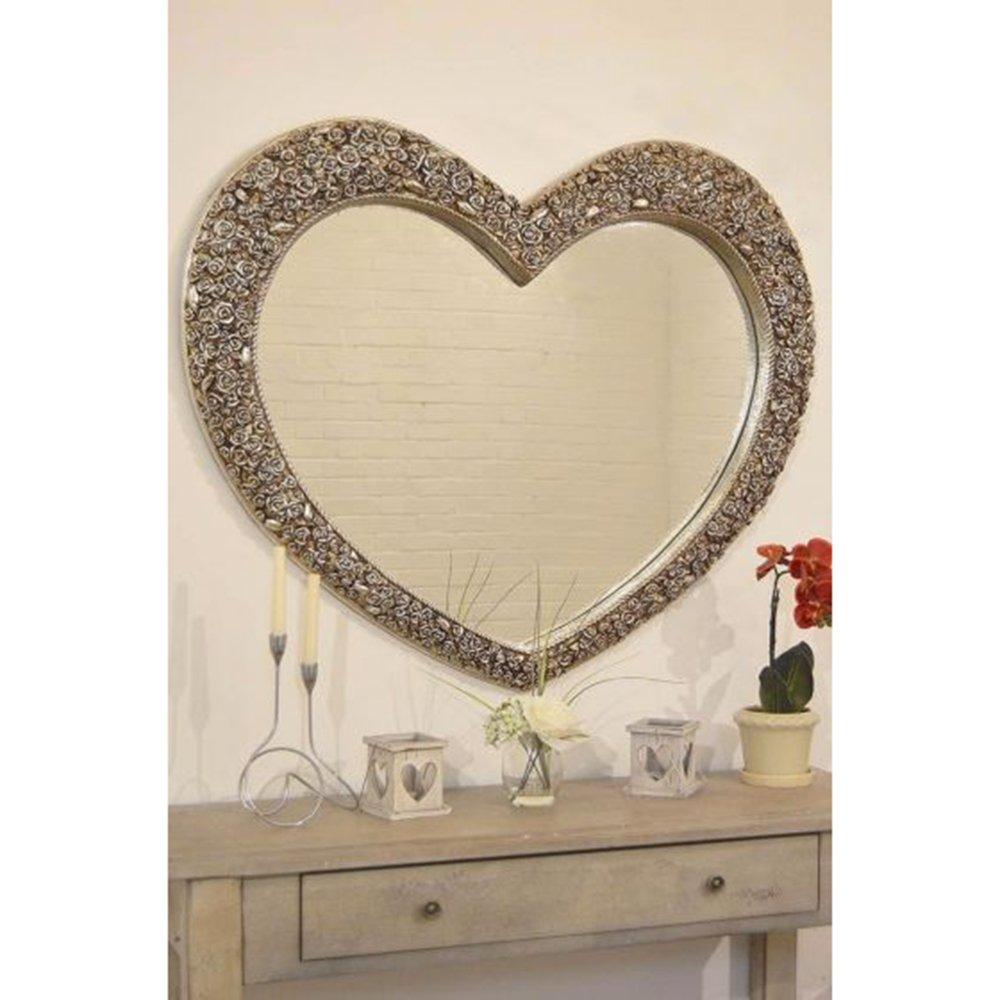 Heart Mirror Rose Silver Rite Price Carpets Flooring Interiors Belfast