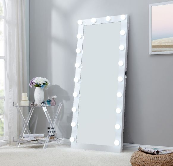Floor Mirror With Lights, White Floor Mirror With Lights
