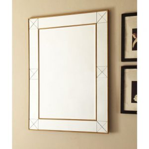 mirror glass gold