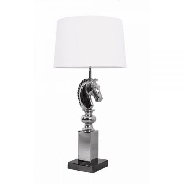 cream horse head lamp
