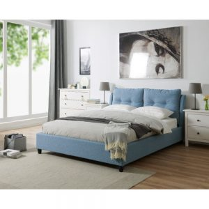blue bed bedstead
