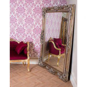 antique glass silver mirror