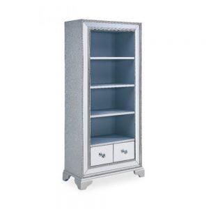 bookcase silver glitter