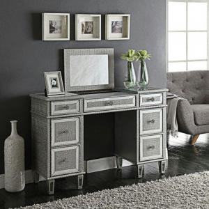 silver diamante glitter diamond dressing table