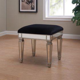 dressing table stool silver black