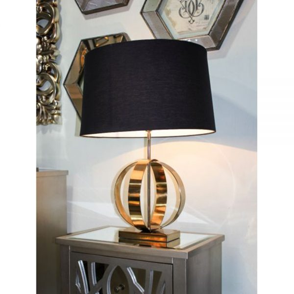 black gold style lamp