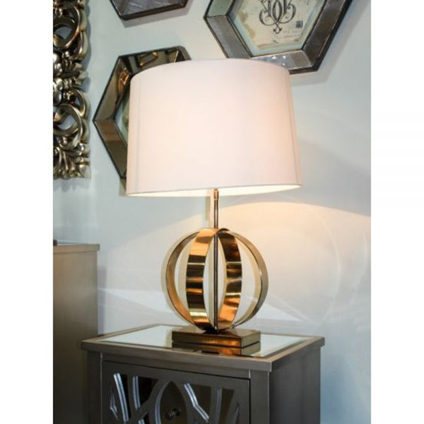 gold style lamp cream