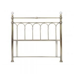 brass metal headboard