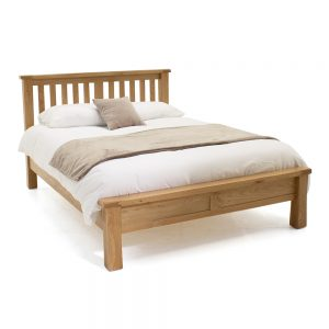 low foot end bed wood
