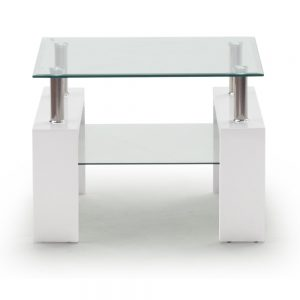 white glass lamp table