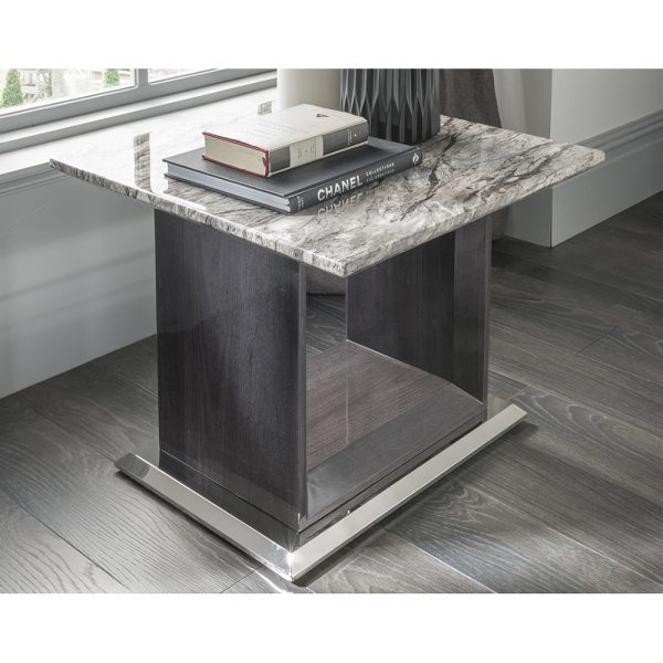 grey marble lamp table