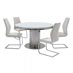 dining table white glass