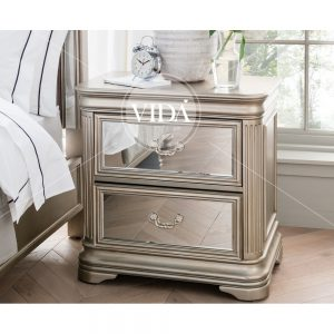 bedside table taupe
